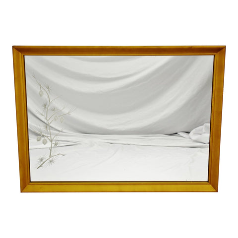 MCM Gold Gilt Framed Etched Glass Wall Mirror