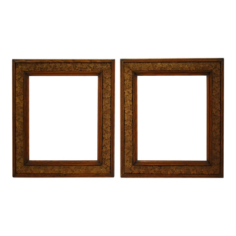 Antique Carved Wood and Gesso Grapevine Motif Picture Frames - A Pair