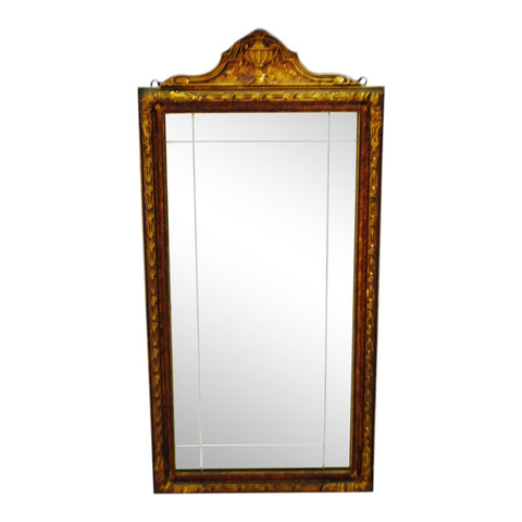 Art Deco Carved Wood Gilt Framed Wall Mirror