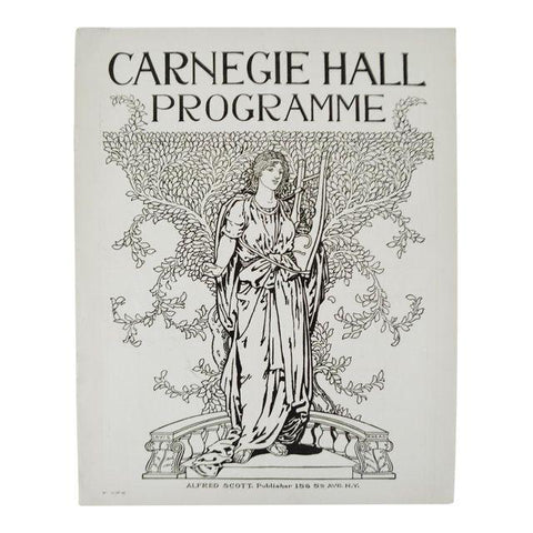 Carnegie Hall Programme From December 18, 1903