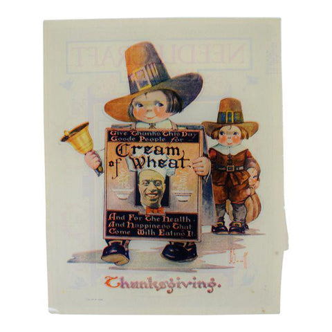 1923 Thanksgiving Cream of Wheat Print Ad, G. Scott Art