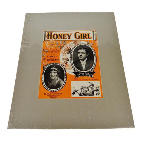 1927 Honey Girl Sheet Music / Music Score with COA