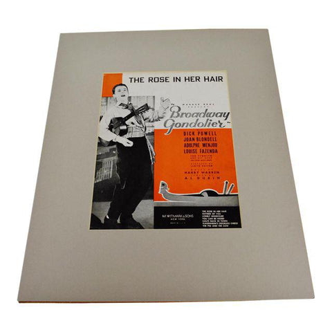 1935 The Rose In Her Hair, Broadway Gondolier Sheet Music / Music Score w/COA