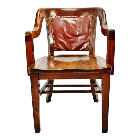 Antique Globe Wernicke Wood Armchair