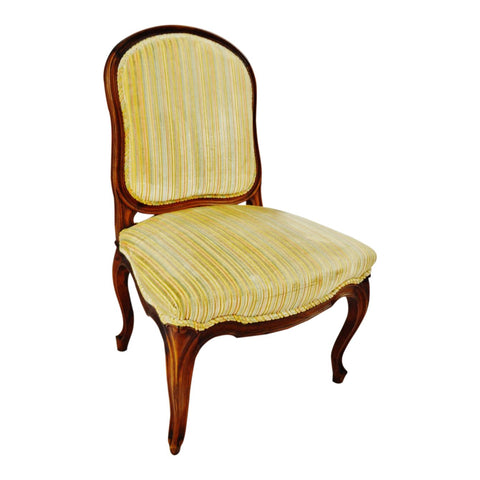 Vintage French Provincial Velvet Upholstered Side Chair