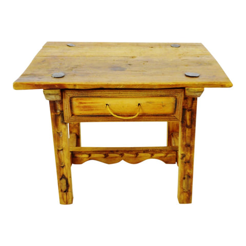 Antique Rustic Hand Made Accent Table with Hand Forged Blacksmith's Nails