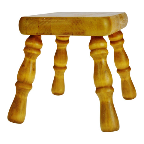 Vintage Wood Foot Stool