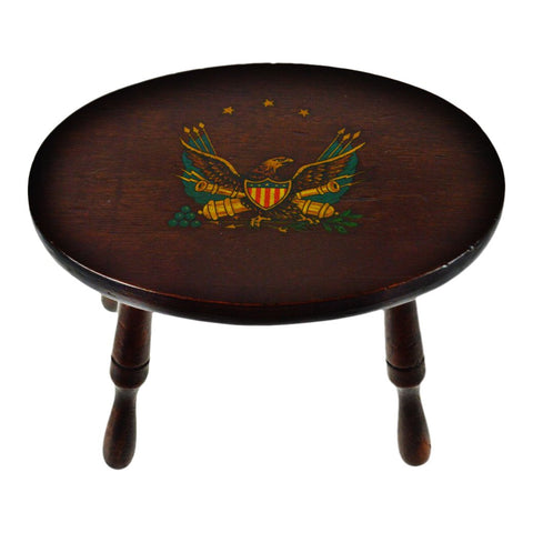 Vintage American Eagle Foot Stool