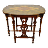 Art Deco Era Hall Table with Diamond Shaped Inlay