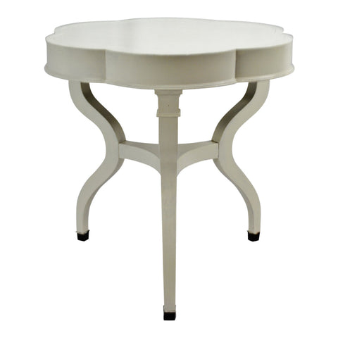 Vintage Painted Drum Style Accent Table