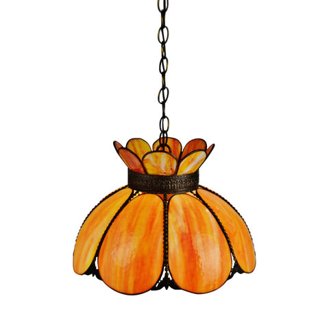 Vintage Slag Glass Pendant Light