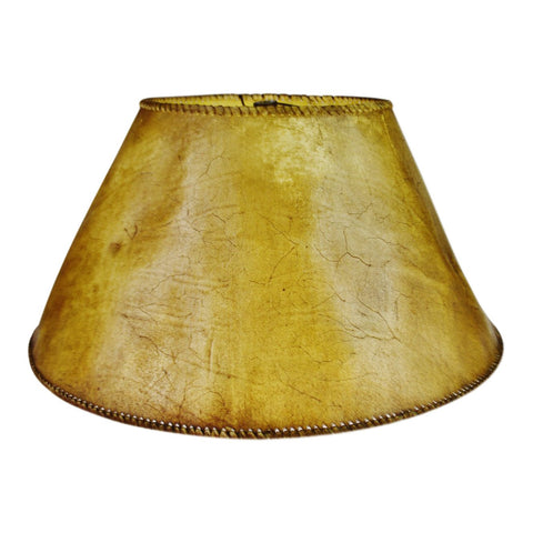 Vintage Animal Hide Lamp Shade