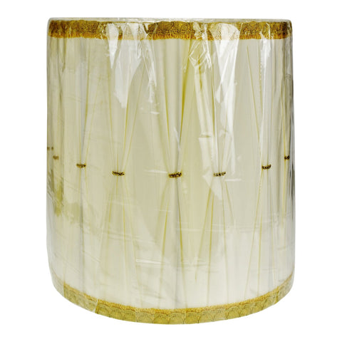 Vintage Hollywood Regency Drum Lamp Shade w/ Gold Piping