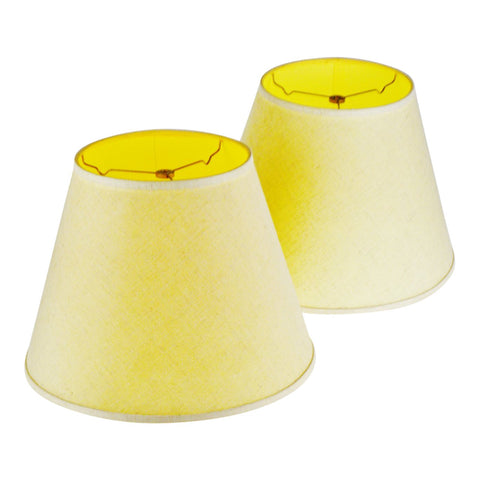 Vintage New Brunswick Linen Empire Shape Lamp Shades - A Pair