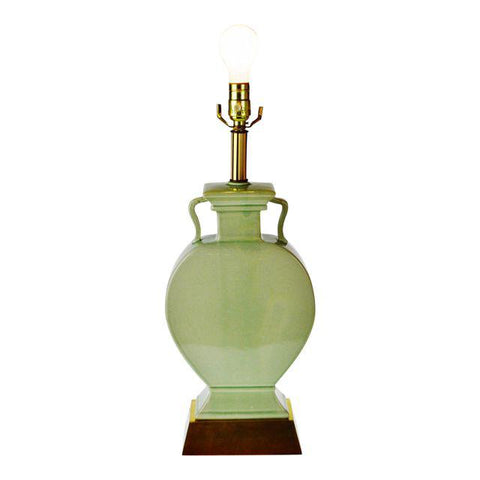 Vintage Asian Style Celadon Table Lamp