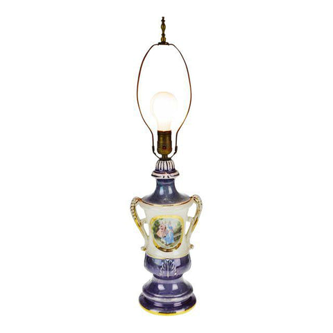 Victorian Limoges Ulrich Style Table Lamp