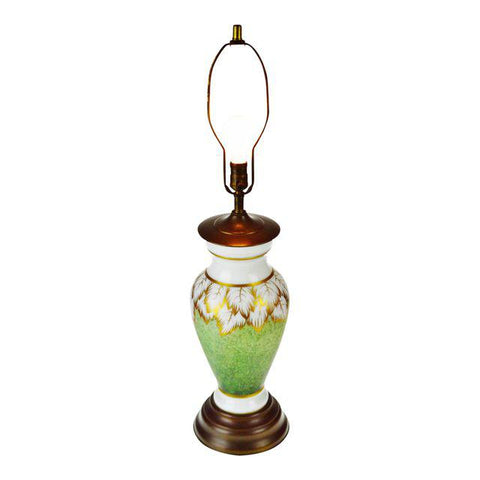 Vintage Hand Painted Glass Table Lamp