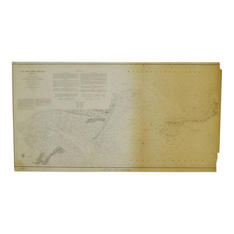 1850 Cat and Ship Island Harbors Nautical Chart