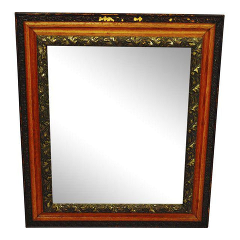 Antique Decorative Wood Gesso Mirror