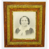 Victorian Charcoal Portrait with Large Gilt Wood Frame