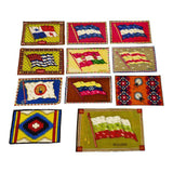 11 Tobacco Silks, Native American Rug Designs, Various Flags, Early 1900's