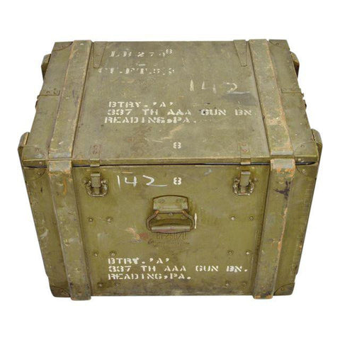 US Army AAA Gunsite Equipment Trunk Crate by United Guitar Corp.