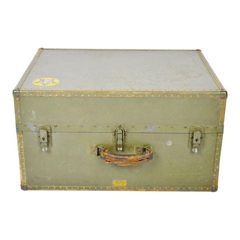 Authentic Military WWII era Hartmann Seapack Trunk / Case / Chest
