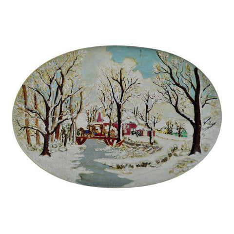 1976 Hershey Mold - Winter Scene with Horse and Sleigh