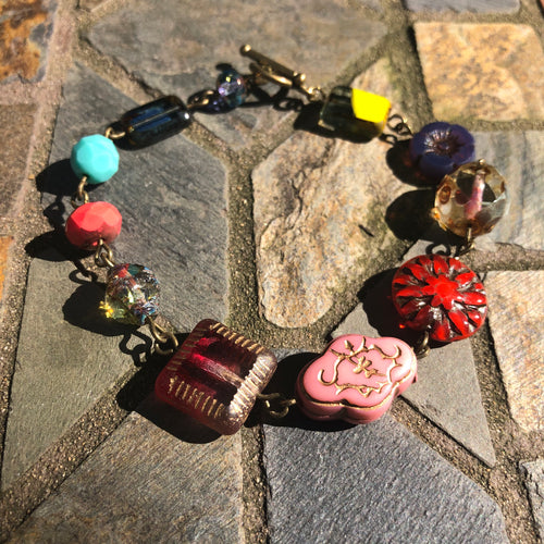Mixed Czech Glass Bracelet