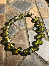 Olive Green Glass Bracelet