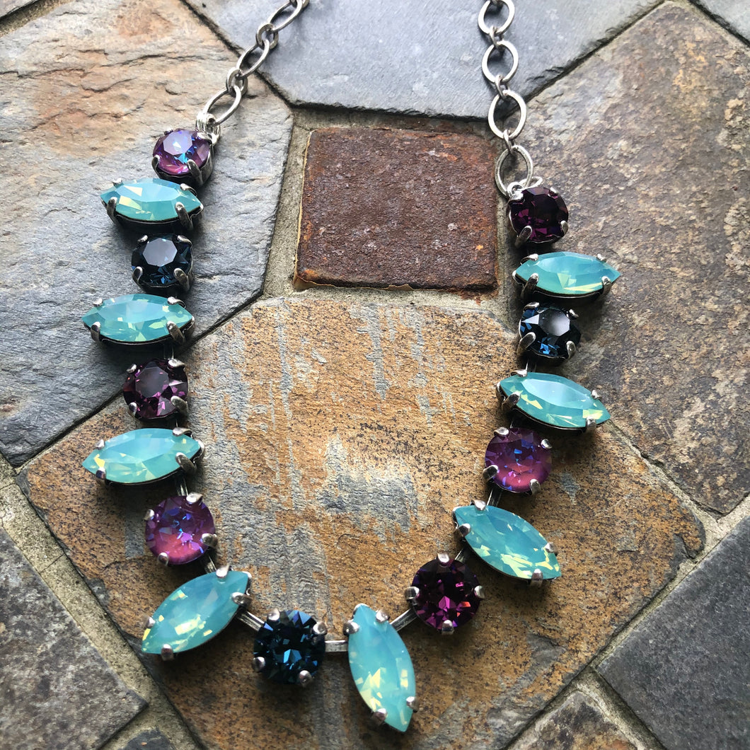 Pacific Opal Navette Necklace