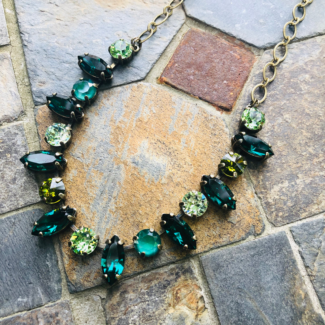 Emerald Navette Necklace
