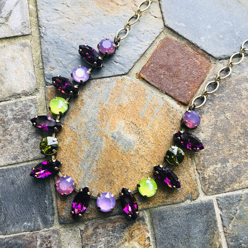 Amethyst Navette Necklace
