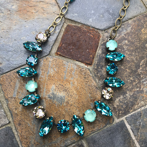 Turquoise Navette Necklace