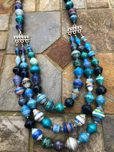 Blue Paper Necklace