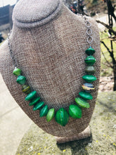 Green Paper Disc Necklace