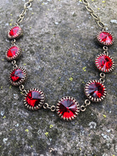 Red Rivoli Necklace