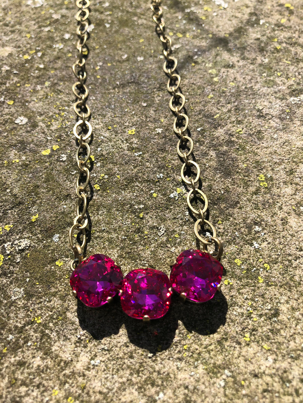 Fuschia Bar Necklace