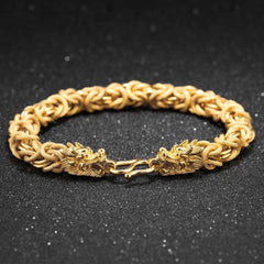 Feng Shui Symbols - Lucky Golden Dragon Bracelet