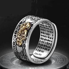 Feng Shui Symbols - Feng Shui Pixiu Mani Mantra Protection Wealth Ring