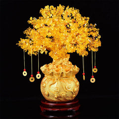 Feng Shui Symbols - Lucky Citrine Prosperity Tree Ornament