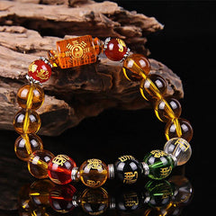 Feng Shui Symbols - Citrine The God of Wealth Bracelet