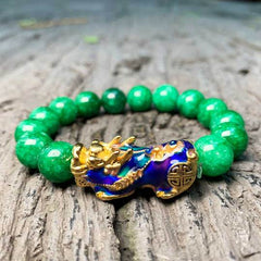 How to wear a Feng Shui Pixiu - Pixiu Jade Abundance Protection Bracelet