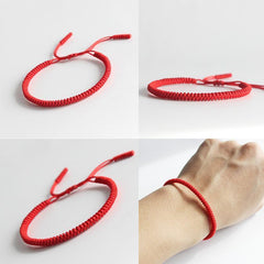 Red String Bracelet - Handmade Knots Lucky Rope Bracelet