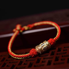 Red String Bracelet - Tibetan Silver Lucky Red String Bracelet