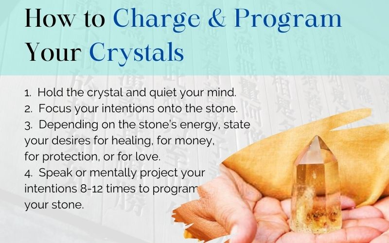 how to charge and program your crystals