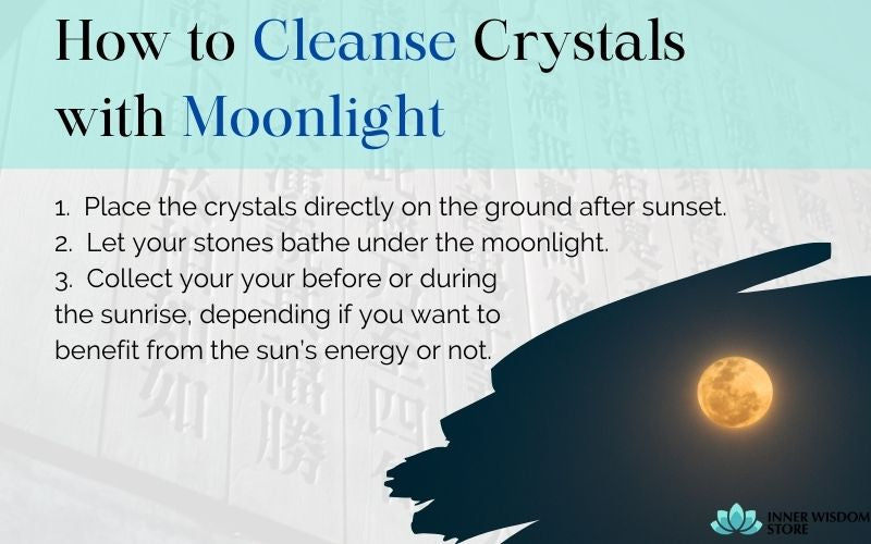 how to cleanse crystals with moonlight