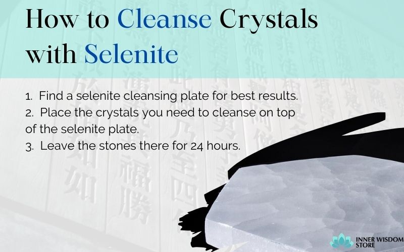 how to cleanse crystals with selenite