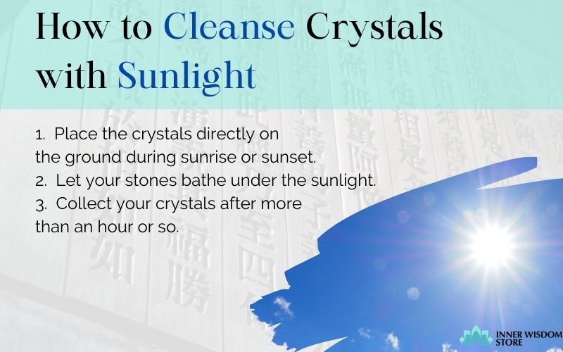 how to cleanse crystals with sunlight