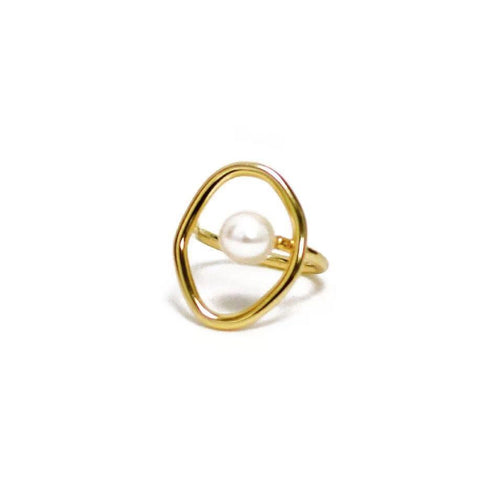 Image of Adjustable Pearl Ring